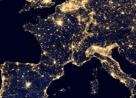 contaminacion luminica europa
